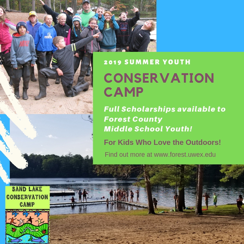 2019 Conservation Camp Scholarships Available